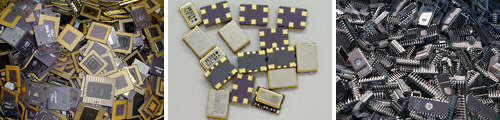 CPUs, quartz resonators,ICs
